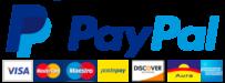 Pagamento sicuro con carta di credito o prepagata